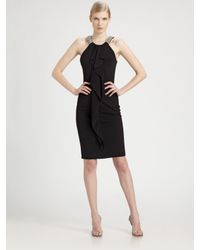 David Meister   Black Jersey Dress   Lyst