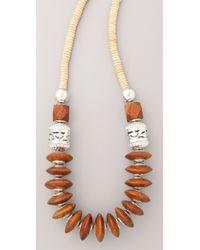 Theodora & Callum - Brown Safari Necklace - Lyst