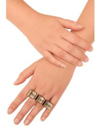 ModCloth - Brown Style Is Keyboard Ring - Lyst