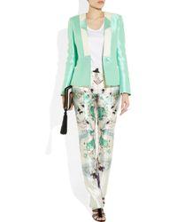 Prabal Gurung   Multicolor Printed Wool And Silk Blend Straight Leg Pants   Lyst