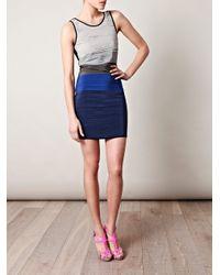 Rag & Bone   Blue Layered Bodycon Dress   Lyst