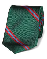 J.Crew - Green Slim Blake Striped Silk Tie for Men - Lyst