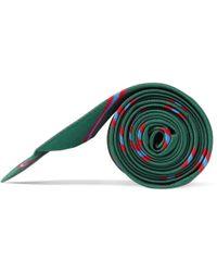 J.Crew - Green Slim Blake Striped Silk Tie for Men - Lyst