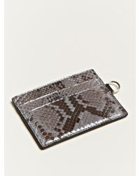 Jil Sander - Gray Python Leather Card Holder for Men - Lyst