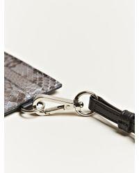 Jil Sander - Gray Python Leather Card Holder for Men - Lyst