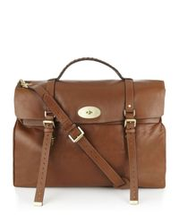 Mulberry | Brown Postmans Lock Travel Bag for Men | Lyst