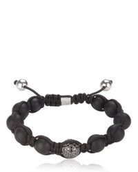 Shamballa Jewels | Black Onyx Black Diamond Bead Bracelet | Lyst
