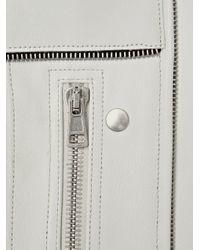 Acne | White Stars Long Leather Jacket | Lyst