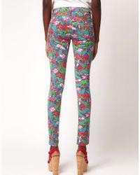 ASOS | Multicolor Skinny Jean In Jungle Hibiscus Print | Lyst