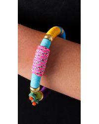 Holst + Lee - Pink Beaded Colorblock Bracelet - Lyst