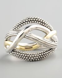 Lagos | Metallic Unlaced Ring | Lyst
