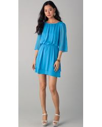 Alice + Olivia | Blue Petunia Bell Sleeve Dress | Lyst