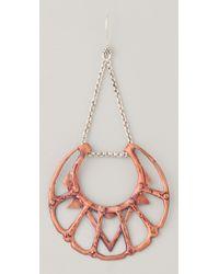 Bing Bang - Red Iroquois Moon Chandelier Earrings - Lyst
