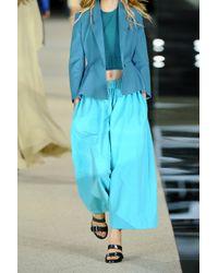 Acne   Blue Turner Raw Cottonblend Peplum Jacket   Lyst