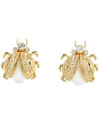 kate spade new york - Metallic Caledonia Bug Stud Earrings - Lyst
