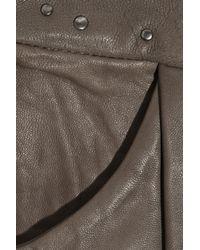 Day Birger et Mikkelsen - Gray Sauvage Studded Leather Mini Skirt - Lyst