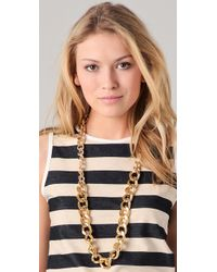 By Malene Birger - Metallic Chunky Chain Necklace Belt - Lyst