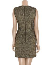 Lanvin - Metallic Bouclé Shift Dress - Lyst