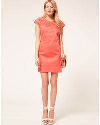 Oasis - Pink Double Sleeve Detail Shift Dress - Lyst