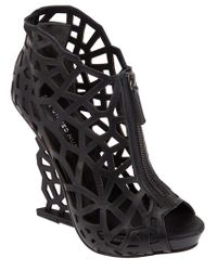 United Nude | Black Cut Out Wedge | Lyst