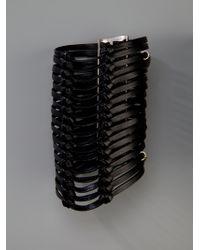 Ann Demeulemeester - Black Cuff Bracelet - Lyst