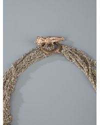 Arielle De Pinto - Metallic Moon Tablet Choker Necklace - Lyst