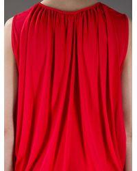 Stella McCartney | Red Draped Back Dress | Lyst