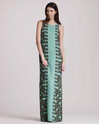 Kelly Wearstler - Green Cadenza Georgette Maxi Dress - Lyst