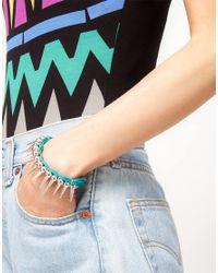 ASOS - Metallic Asos Spiked Cord Friendship Bracelet - Lyst