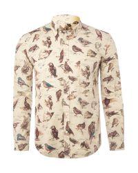Barbour | Natural Cream Bird Liberty Print Shirt for Men | Lyst