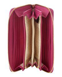Biba - Pink Embossed Zip Around Purse - Lyst