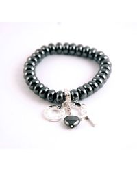 Charmology | Gray Charmology Energy Bead Bracelet with 3 Charms | Lyst