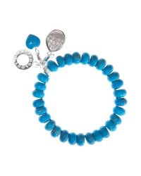 Charmology - Blue Charmology Success Bead Bracelet with 3 Charms - Lyst