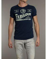DIESEL - Blue Fabulous Tshirt for Men - Lyst