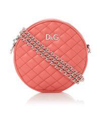 Dolce & Gabbana | Pink Quilted Round Mini Shoulder Bag | Lyst