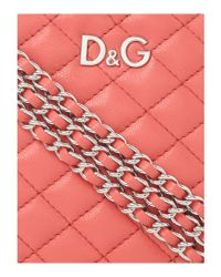 Dolce & Gabbana | Pink Quilted Round Mini Shoulder Bag | Lyst
