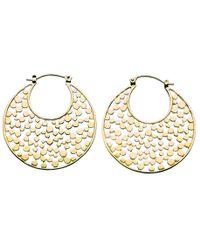 Kit Heath   Metallic Gold Champagne Drop Earrings   Lyst