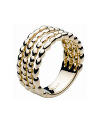 Kit Heath | Gray Gold Pebble Trickle Trio Ring | Lyst