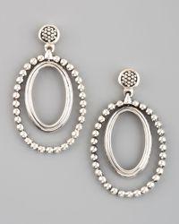 Lagos - Metallic Caviar Oval Twist Earrings - Lyst