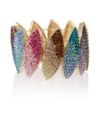 Mikey | Multicolor Crystal Band Bracelet | Lyst