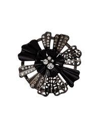 Mimco | Black Starlight Flower Brooch | Lyst