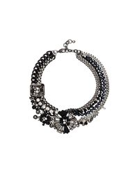 Mimco | Black Starlight Flower Choker Necklace | Lyst