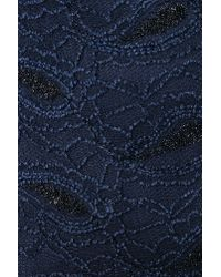 lyst  nasty gal paisley lace dress midnight blue in blue