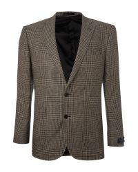 New & Lingwood | Natural Bisham Linen Prince Of Wales Formal Blazer for Men | Lyst