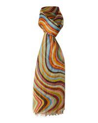 Paul Smith | Multicolor Swirl 513a-v26 Swirl Scarf | Lyst