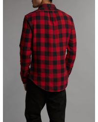 Polo Ralph Lauren | Red Slim Fit Large Check Shirt for Men | Lyst