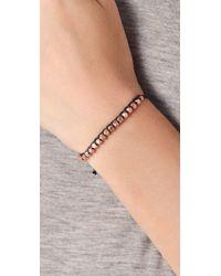 Shashi - Black Rose Gold Nugget Bracelet - Lyst