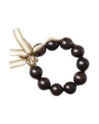 Sparkling Sage | Brown Wood Bead Bracelet | Lyst