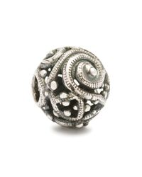 Trollbeads | Metallic Silver Whorl Silver Charm Bead | Lyst