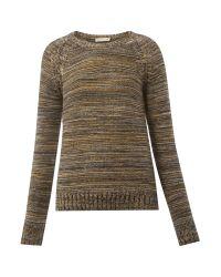Whistles | Gray Daisy Garter Multi Yarn Sweater | Lyst